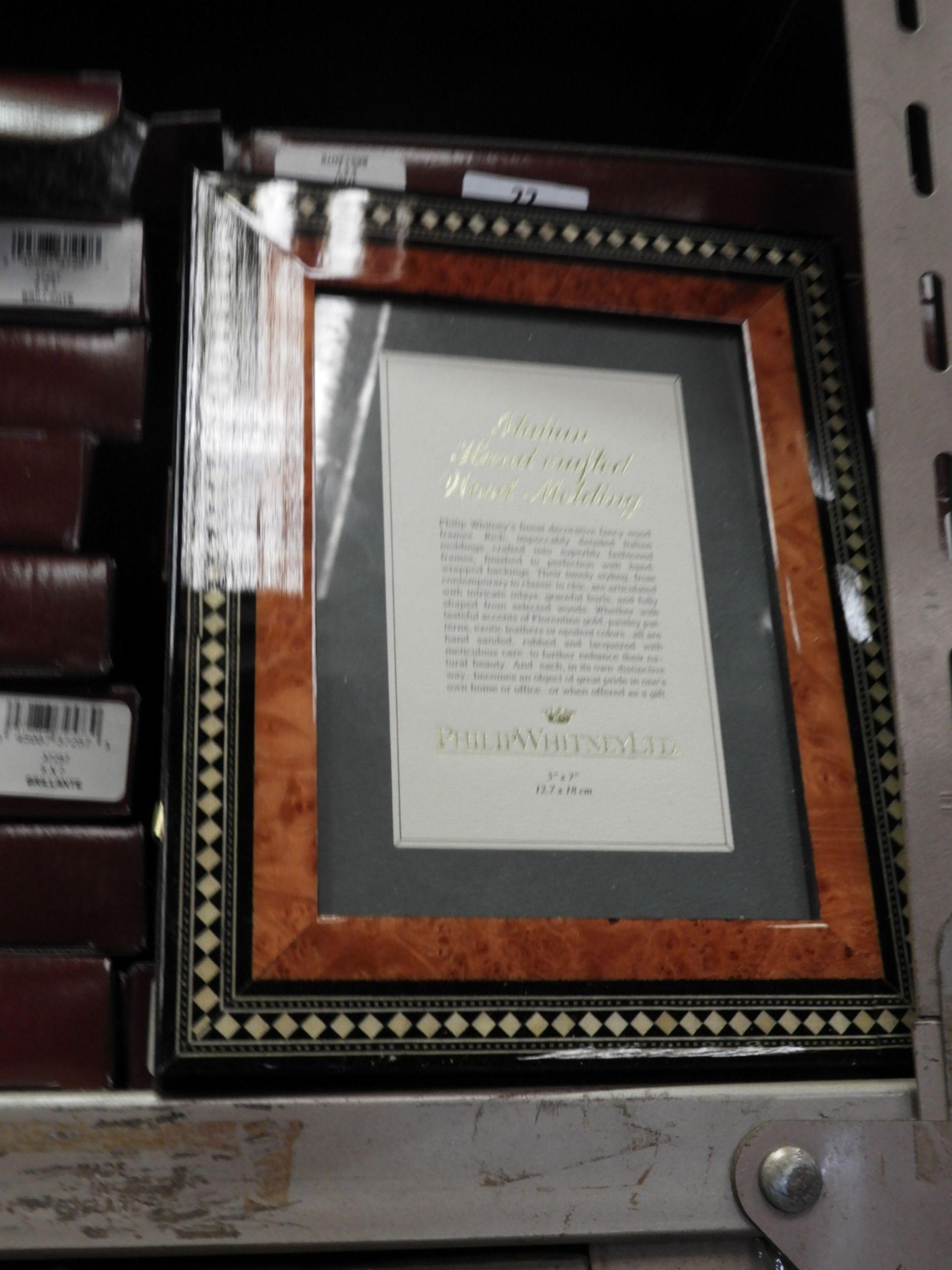 Lot 22 - Eight 5x7 Inlaid Italian Style Photo Frames