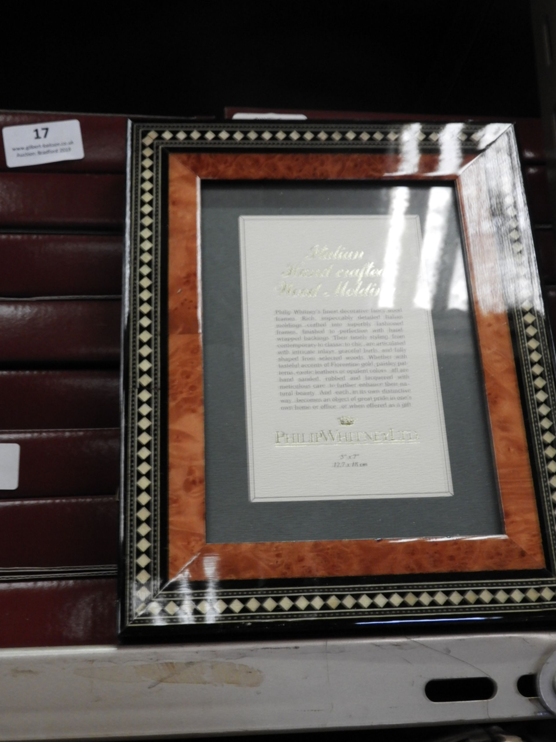 Lot 18 - Eight 5x7 Inlaid Italian Style Photo Frames