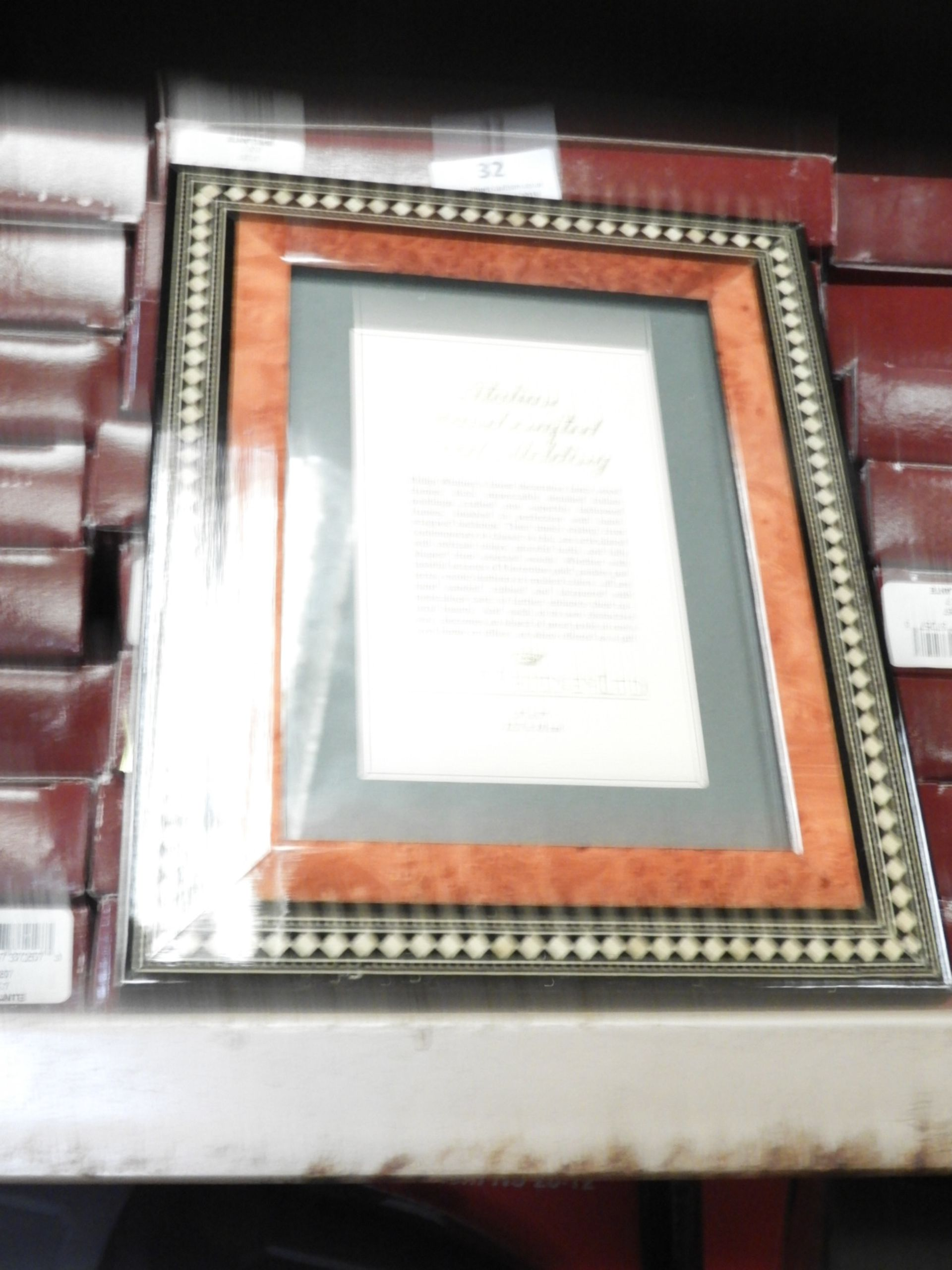 Lot 32 - Eight 5x7 Inlaid Italian Style Photo Frames