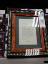 Lot 26 - Eight 5x7 Inlaid Italian Style Photo Frames