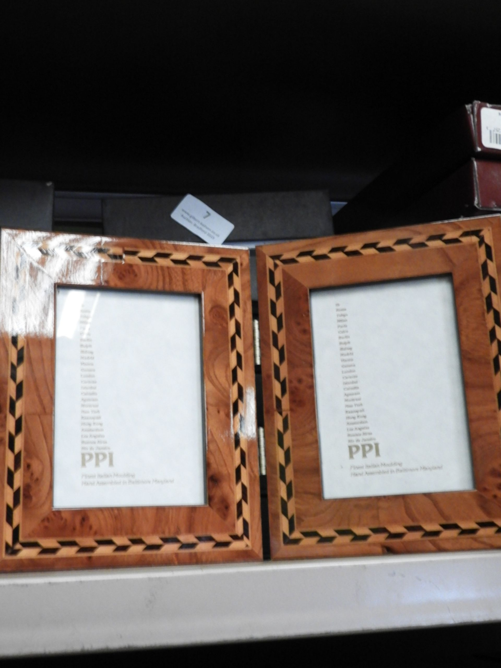 Lot 7 - Six Double Inlaid Photo Frames