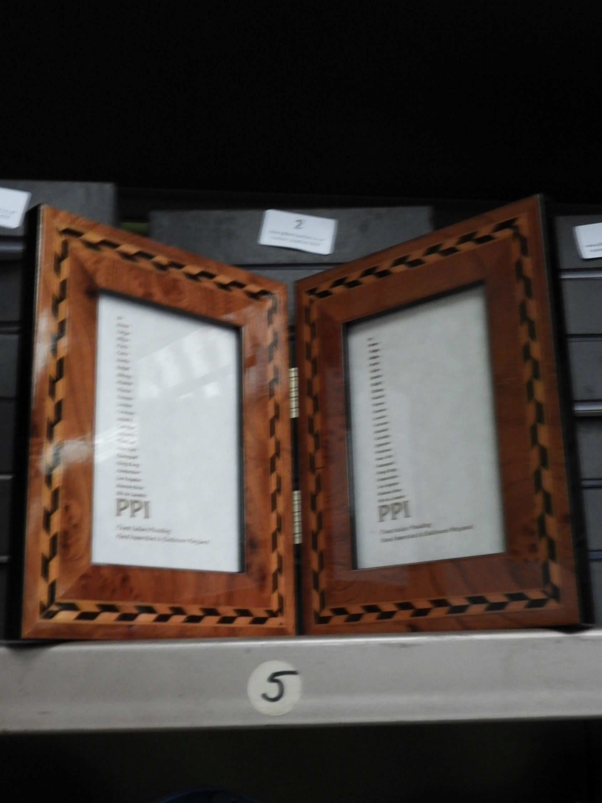 Lot 2 - Six Double Inlaid Photo Frames