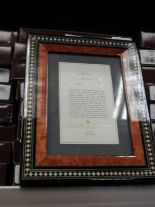 Lot 25 - Eight 5x7 Inlaid Italian Style Photo Frames