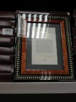 Lot 12 - Eight 5x7 Inlaid Italian Style Photo Frames