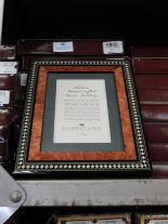 Lot 36 - Eight 5x7 Inlaid Italian Style Photo Frames