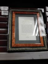 Lot 16 - Eight 5x7 Inlaid Italian Style Photo Frames