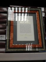 Lot 13 - Eight 5x7 Inlaid Italian Style Photo Frames