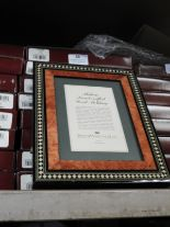 Lot 38 - Eight 5x7 Inlaid Italian Style Photo Frames