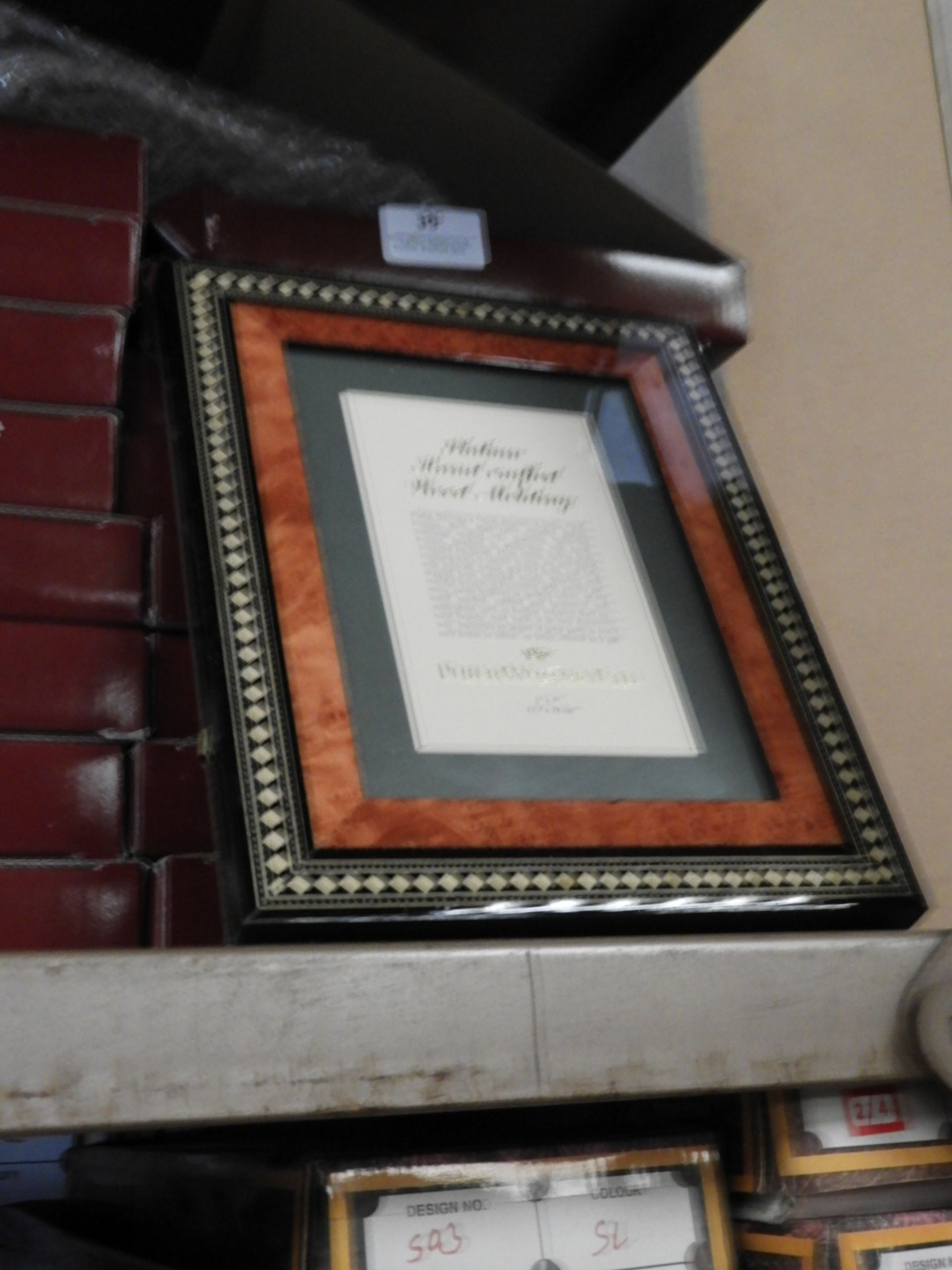 Lot 39 - Eight 5x7 Inlaid Italian Style Photo Frames
