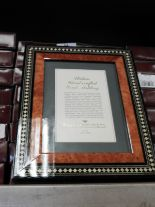 Lot 34 - Eight 5x7 Inlaid Italian Style Photo Frames