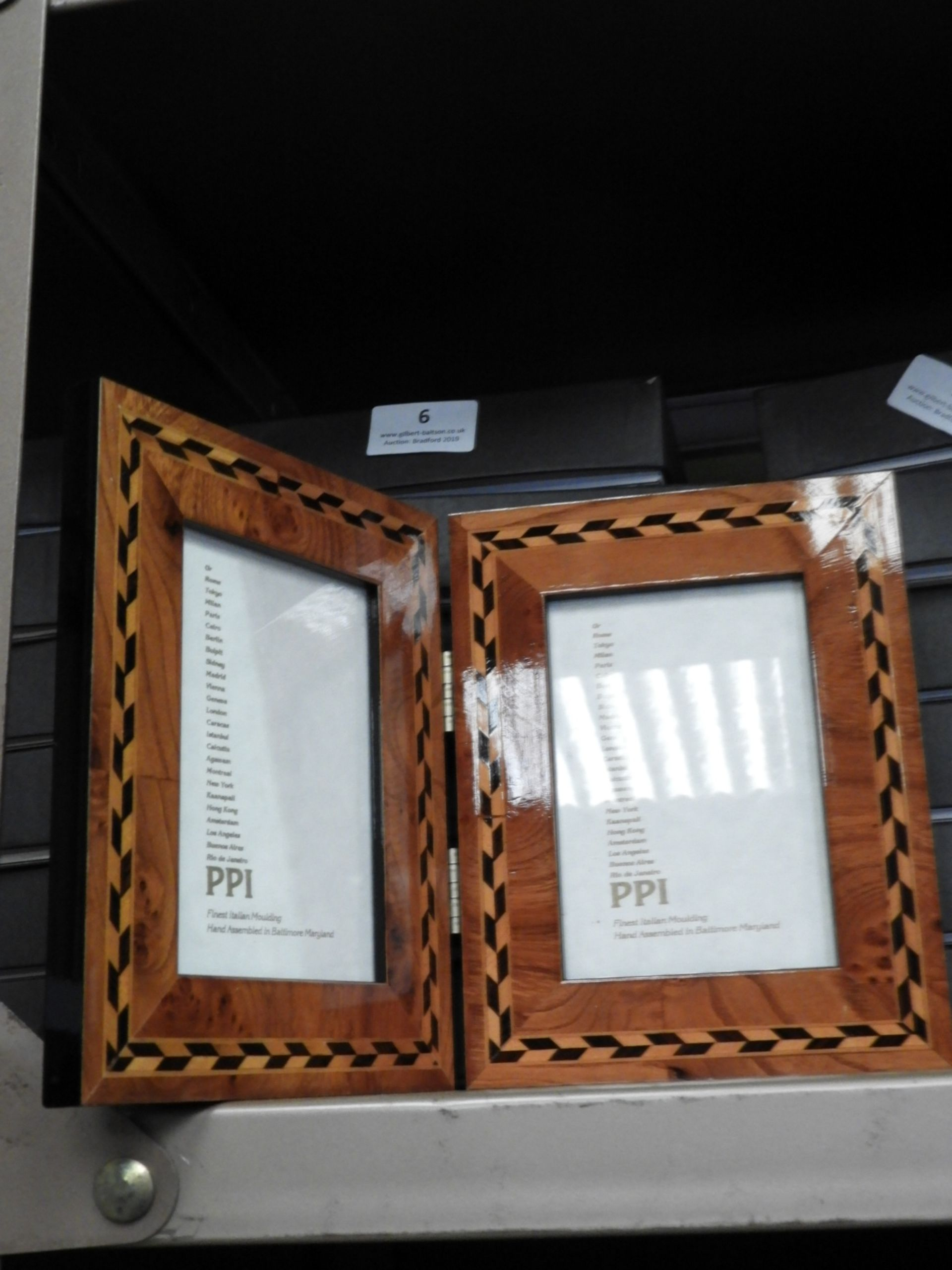 Lot 6 - Six Double Inlaid Photo Frames