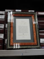 Lot 15 - Eight 5x7 Inlaid Italian Style Photo Frames