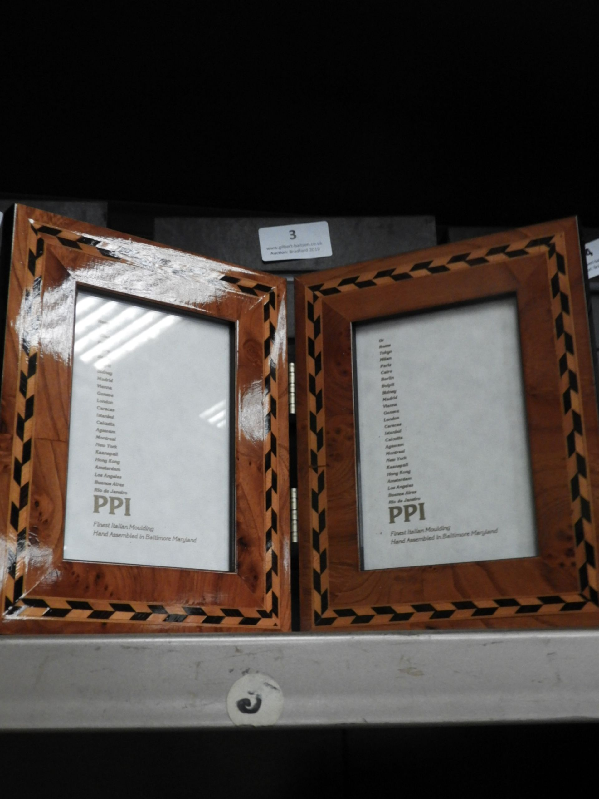 Lot 3 - Six Double Inlaid Photo Frames