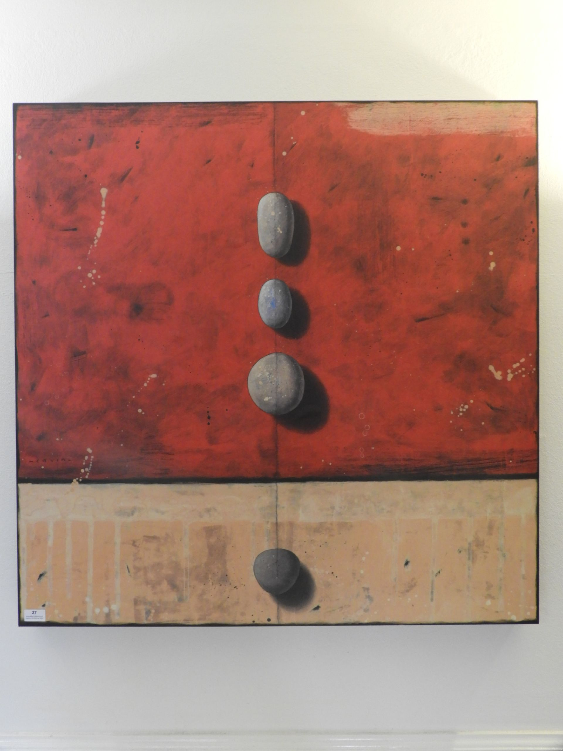 Lot 27 - *Contemporary Canvas Print of Stones 92x94cm