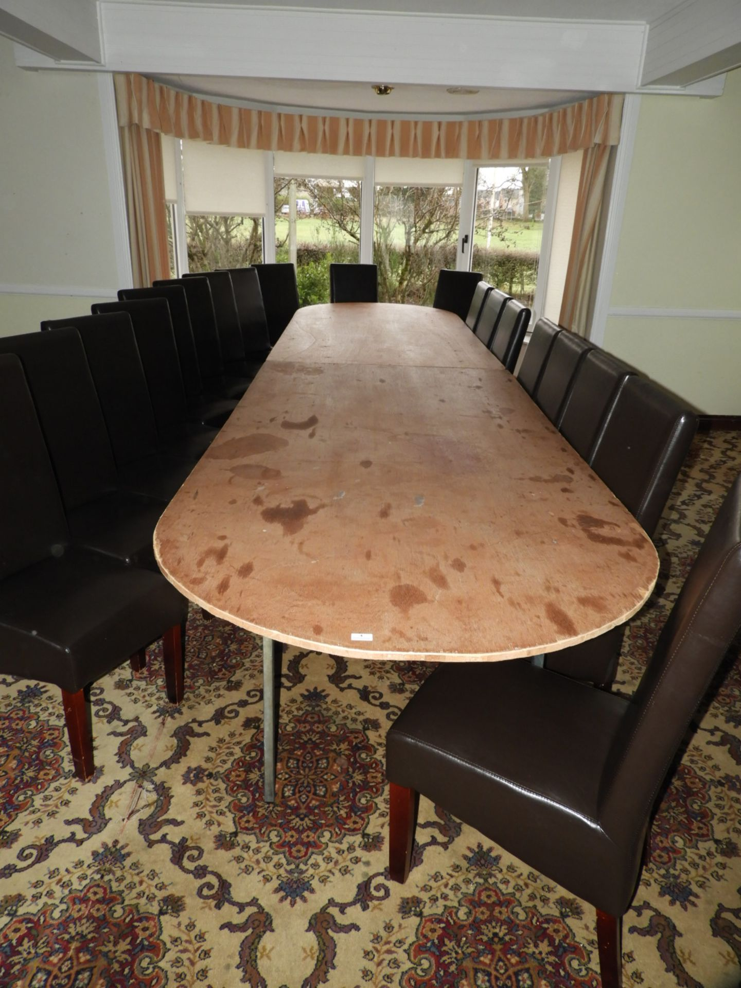 Lot 4 - *16ft x 4ft D-End Banqueting Table on Folding Legs