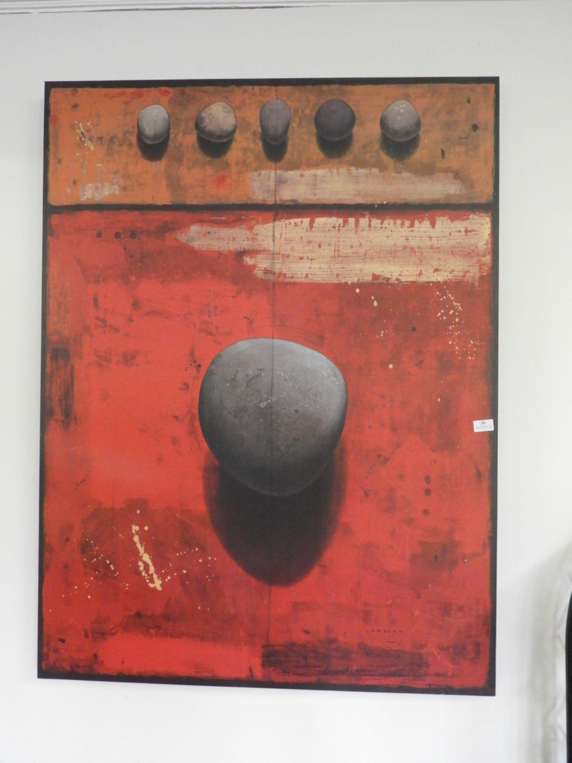 Lot 26 - *Contemporary Canvas Print of Stones 109x90cm