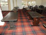 Lot 22 - *Eighteen Assorted Darkwood Refectory Tables (Vari