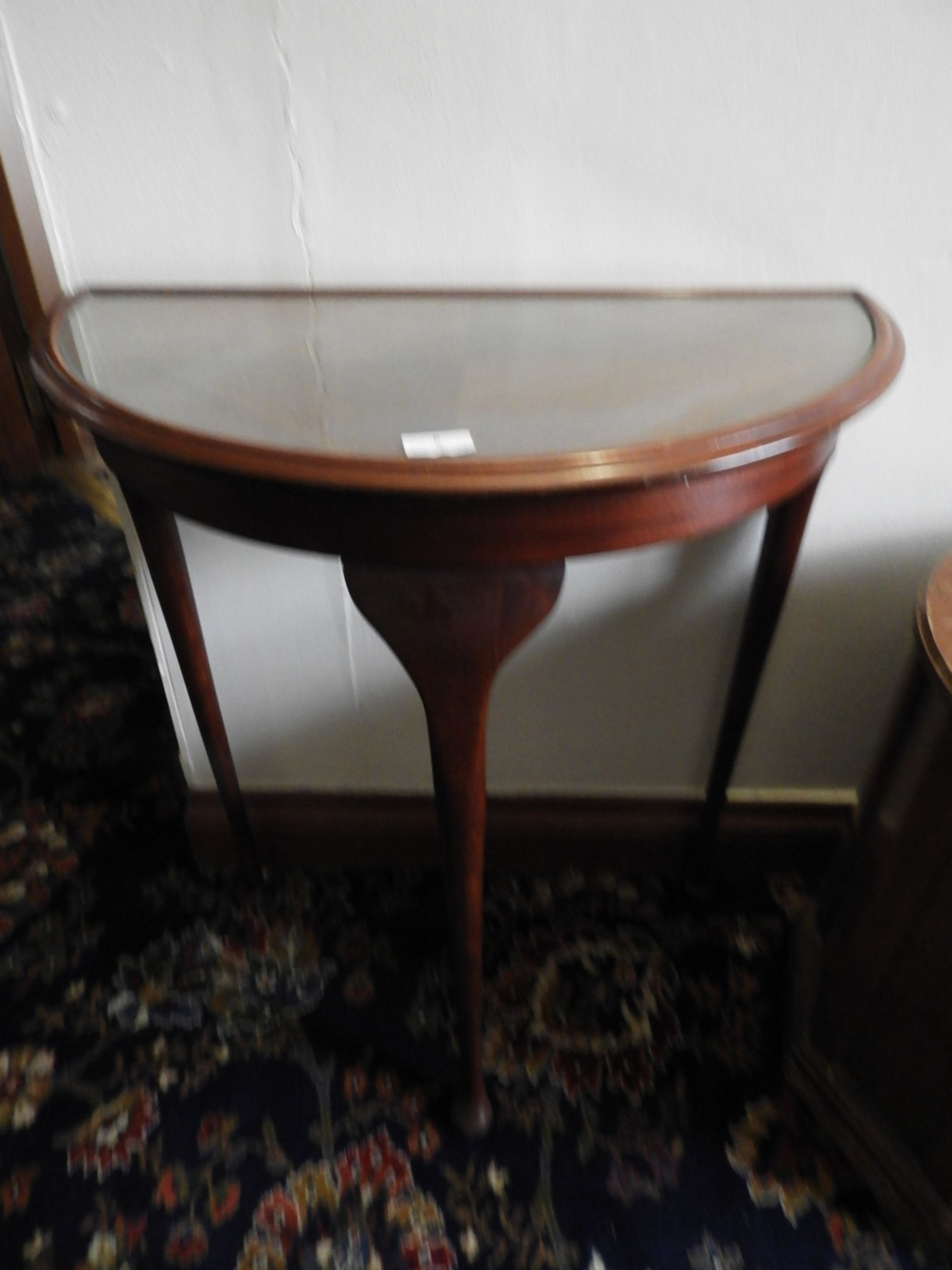 Lot 6 - *Demilune Mahogany Hall Table on Cabriole Legs