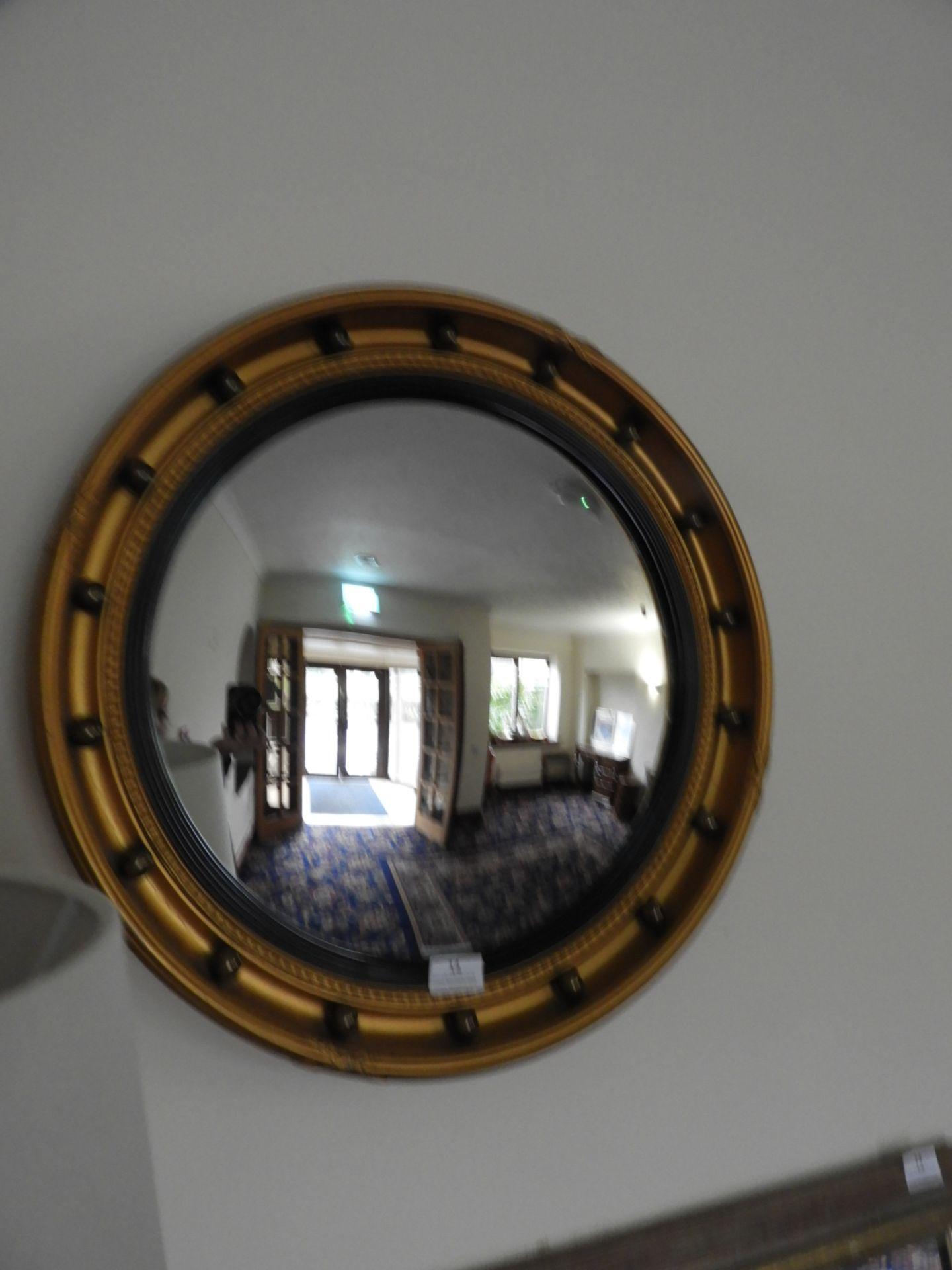 Lot 14 - *Gilt Framed Convex Wall Mirror