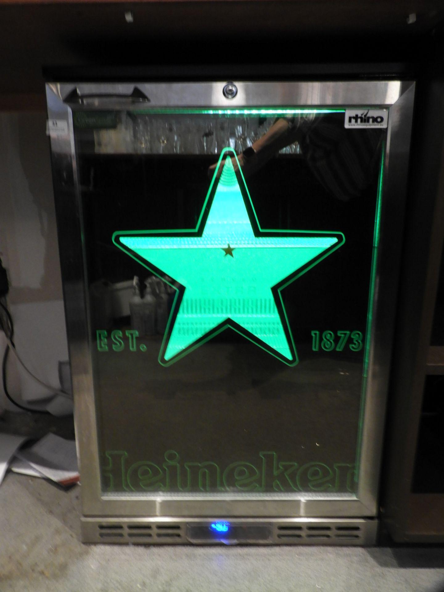Lot 43 - *Rhino Undercounter Bottle Cooler Branded Heineken
