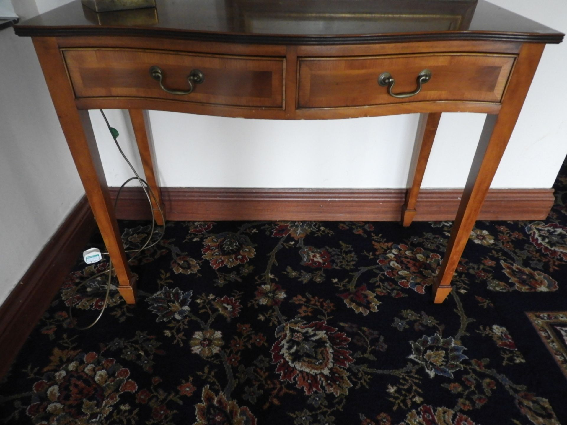 Lot 12 - *Serpentine Front Yew Hall Stand on Four Tapered L