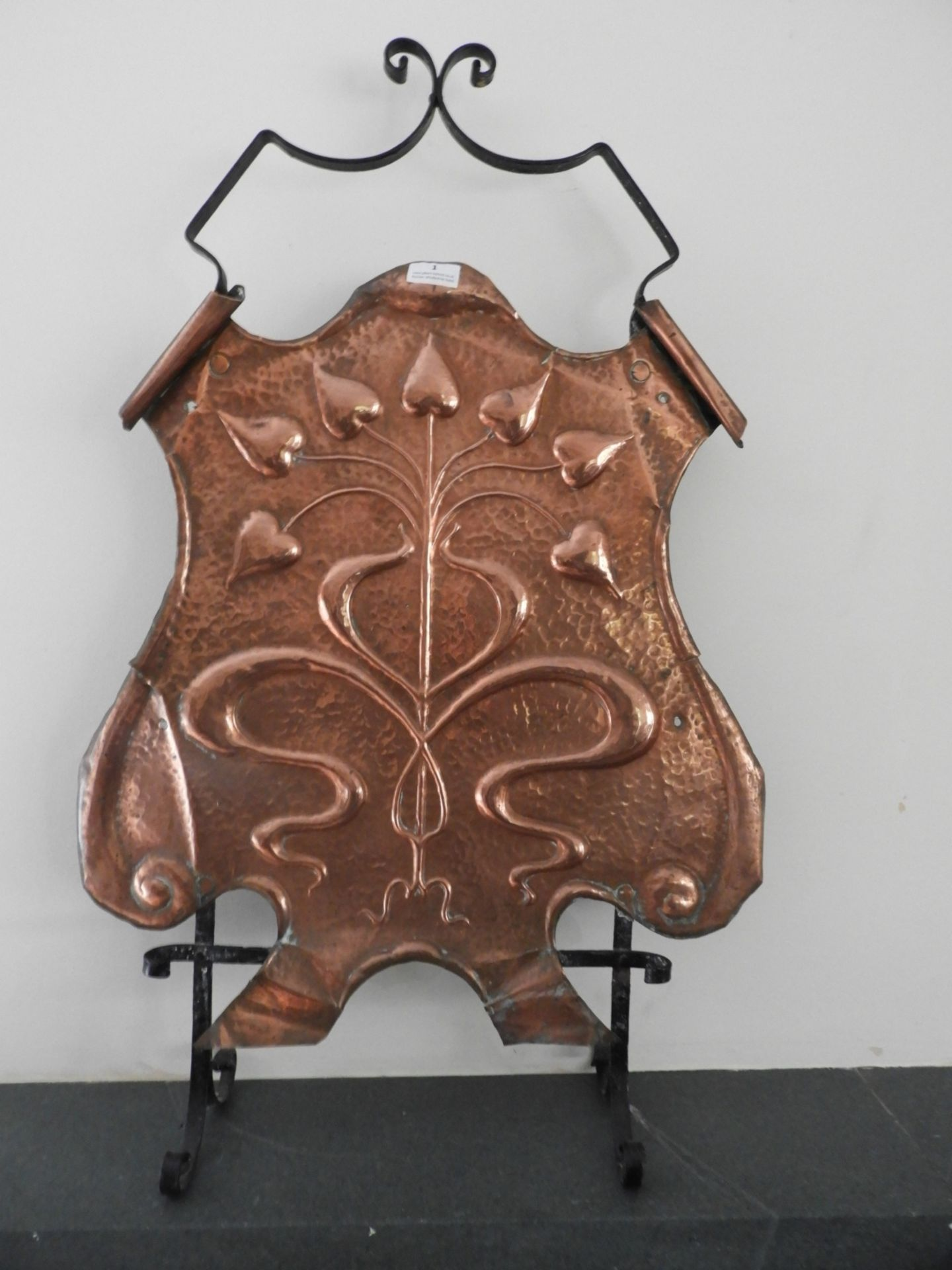 Lot 1 - *Arts and Crafts Copper & Wrought Iron Fire Screen