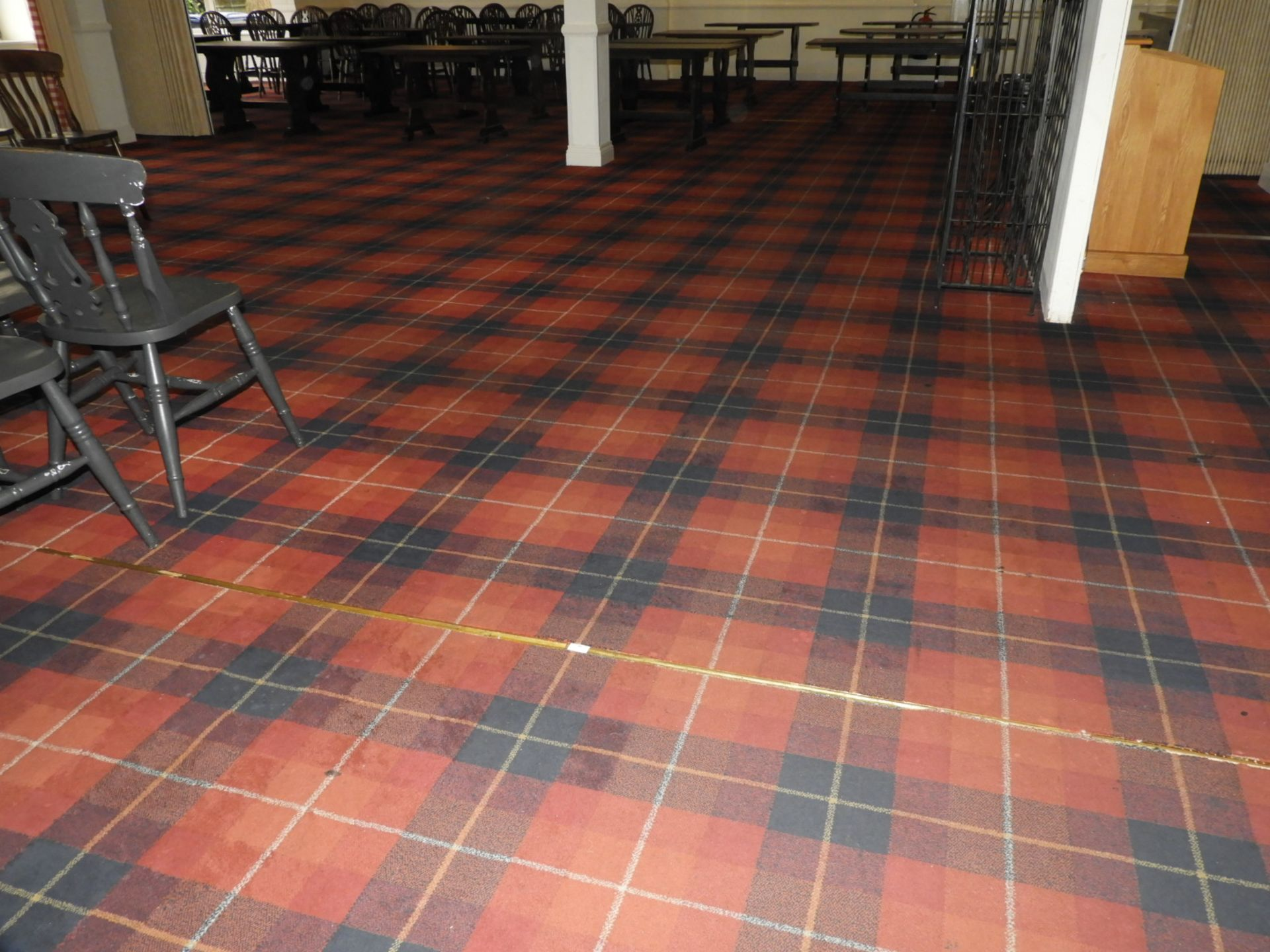 Lot 36 - *Tartan Carpet as Fitted to the Restaurant (approx