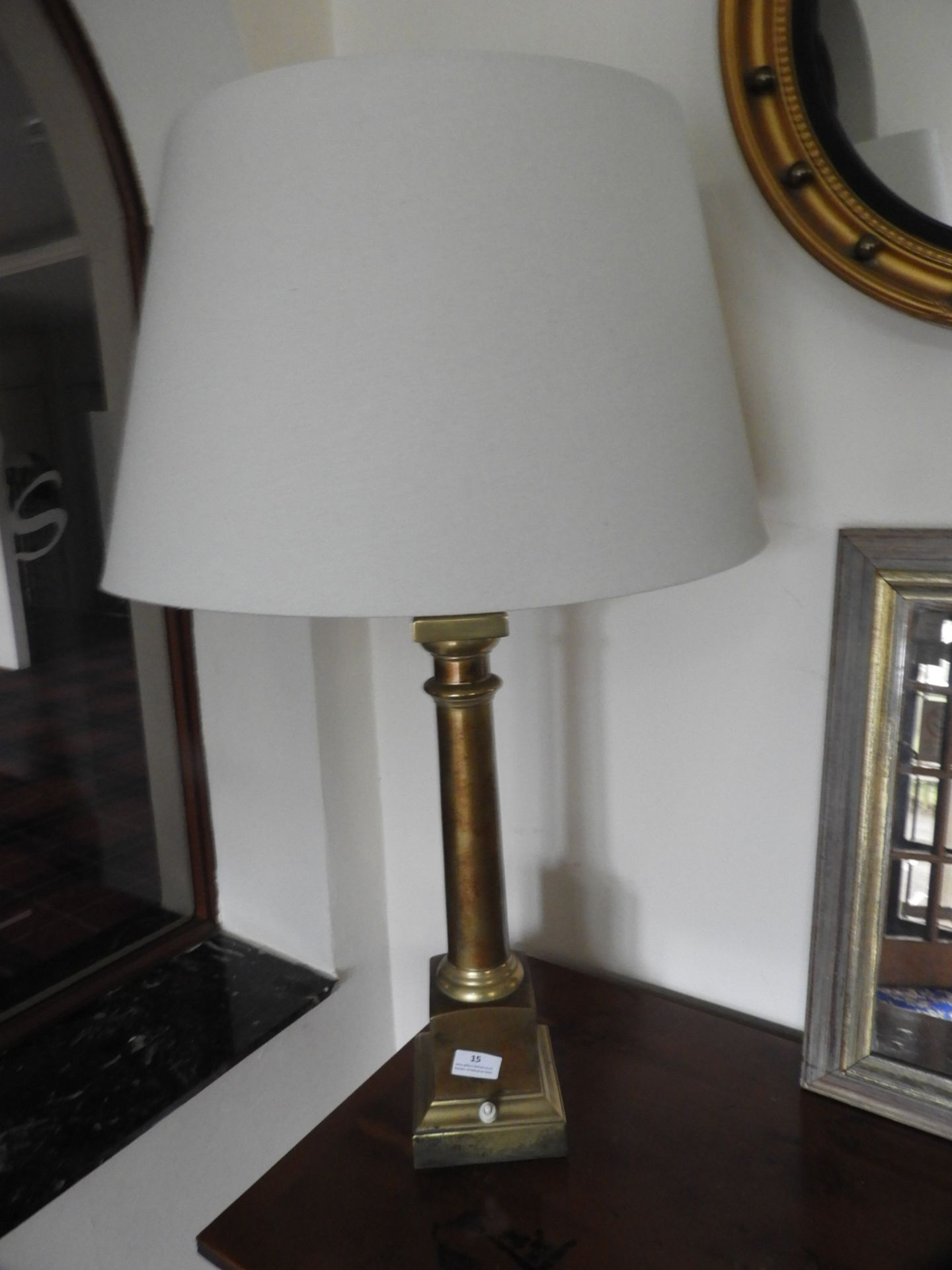 Lot 15 - *Brass Effect Table Lamp with Shade