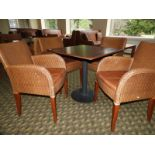 Lot 64 - *Set of Four Rattan Dining Chairs with Faux Leathe