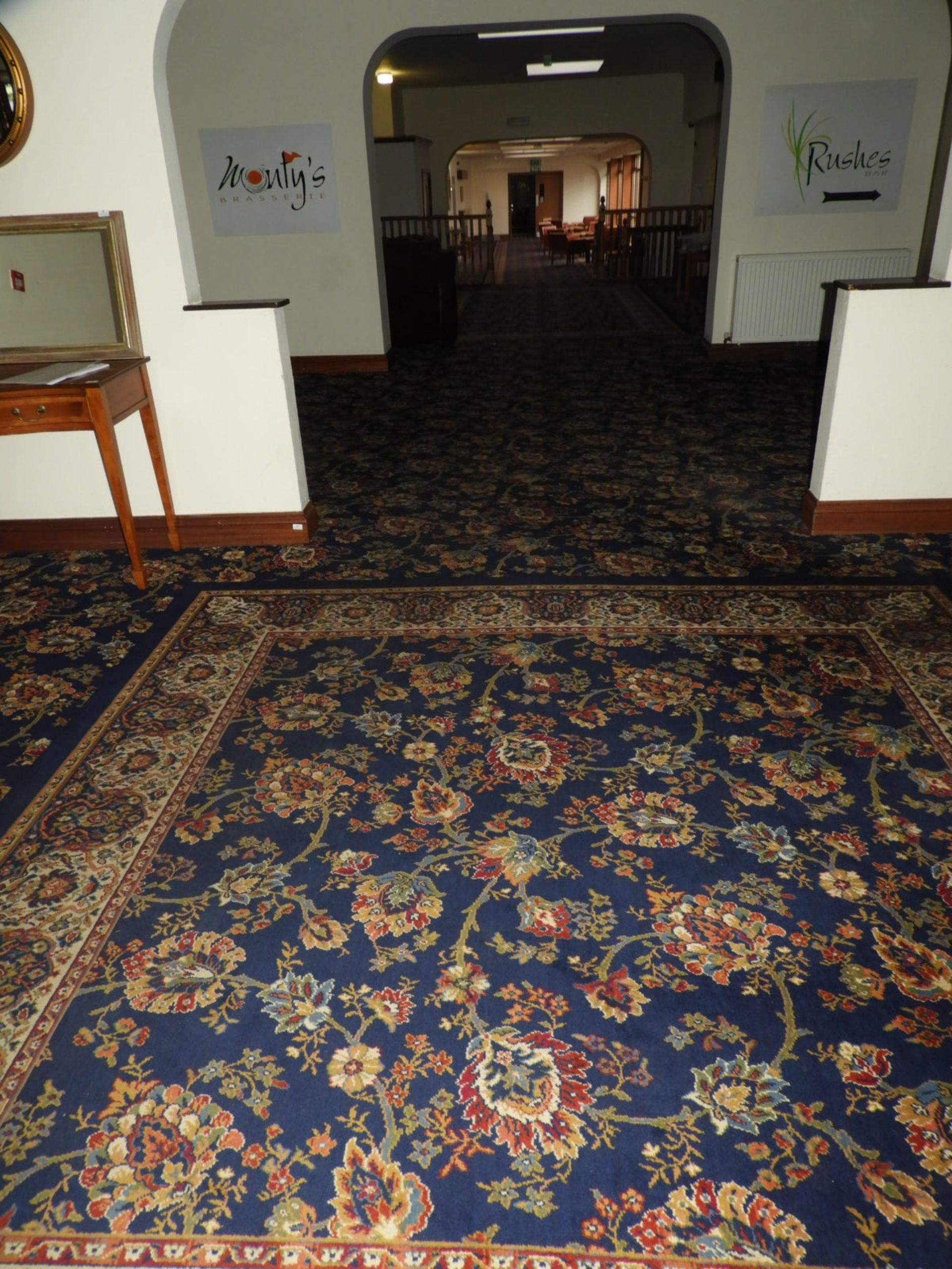 Lot 16 - *Traditional Patterned Blue Wilton Carpet (36m x 5