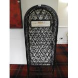 Lot 25 - *Wrought Iron Wine Rack Branded Chateau Bordeaux