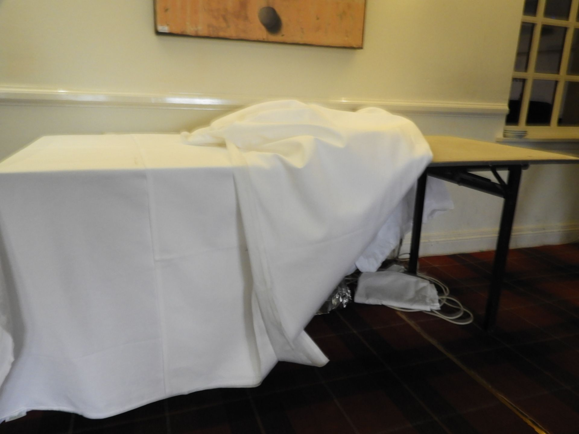 """Lot 30 - *Banqueting Table with Folding Legs 6ft x 2'6"""""""