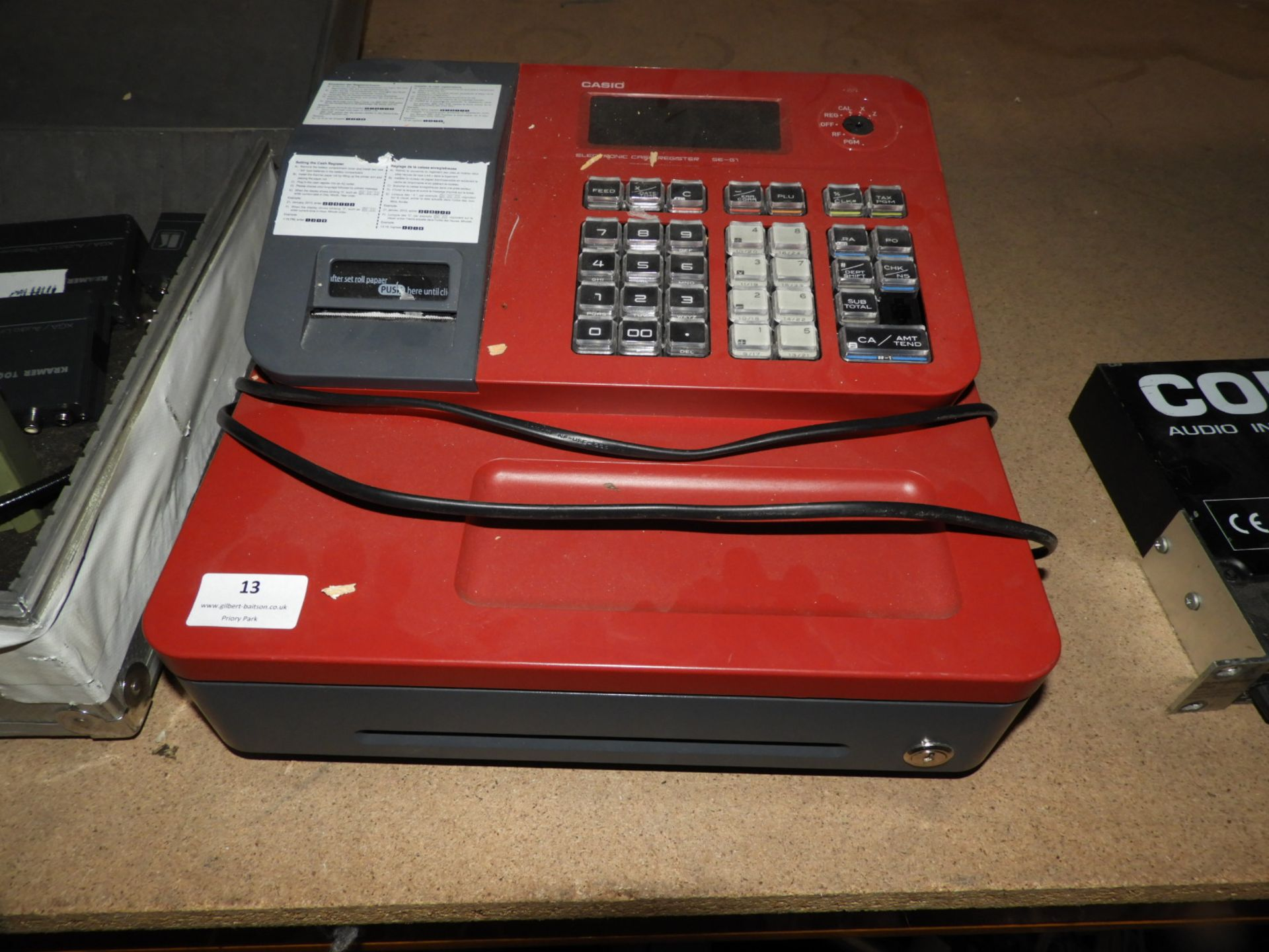 Lot 13 - *Casio Electronic Cash Register