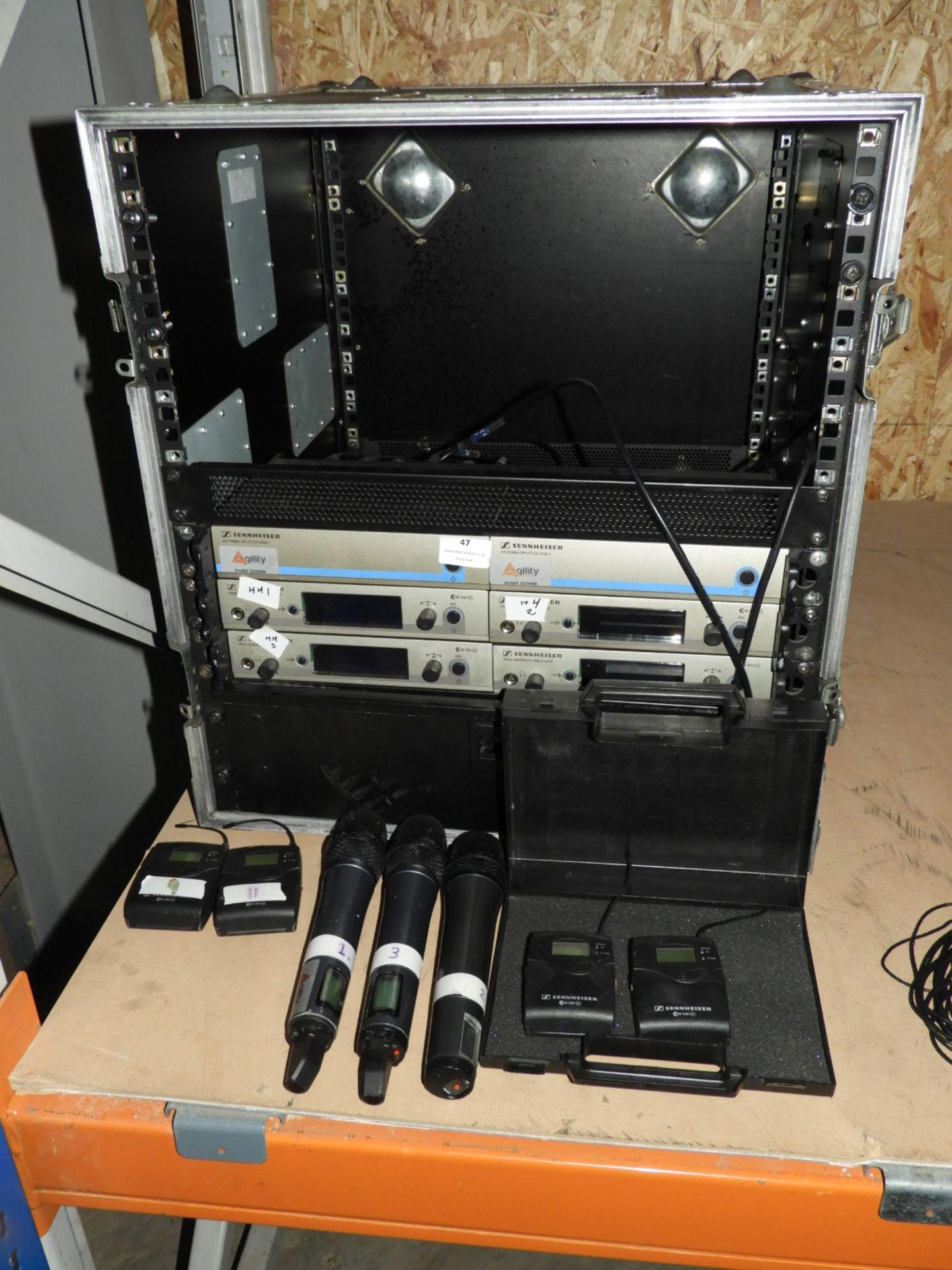 Lot 47 - *Flight Case Containing Sennheiser Audio Equipment