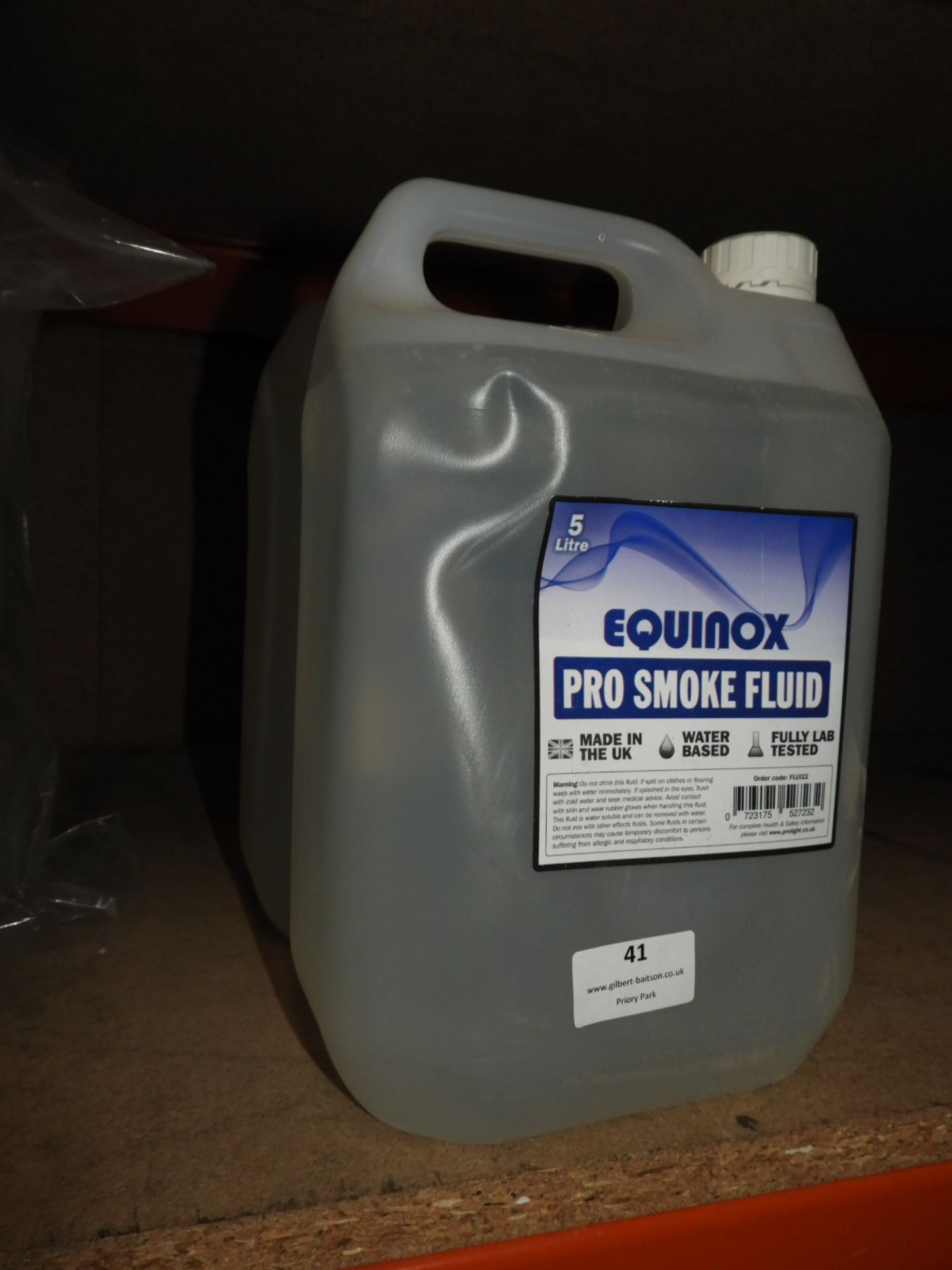 Lot 41 - *3x5L of Equinox Pro Smoke Fluid