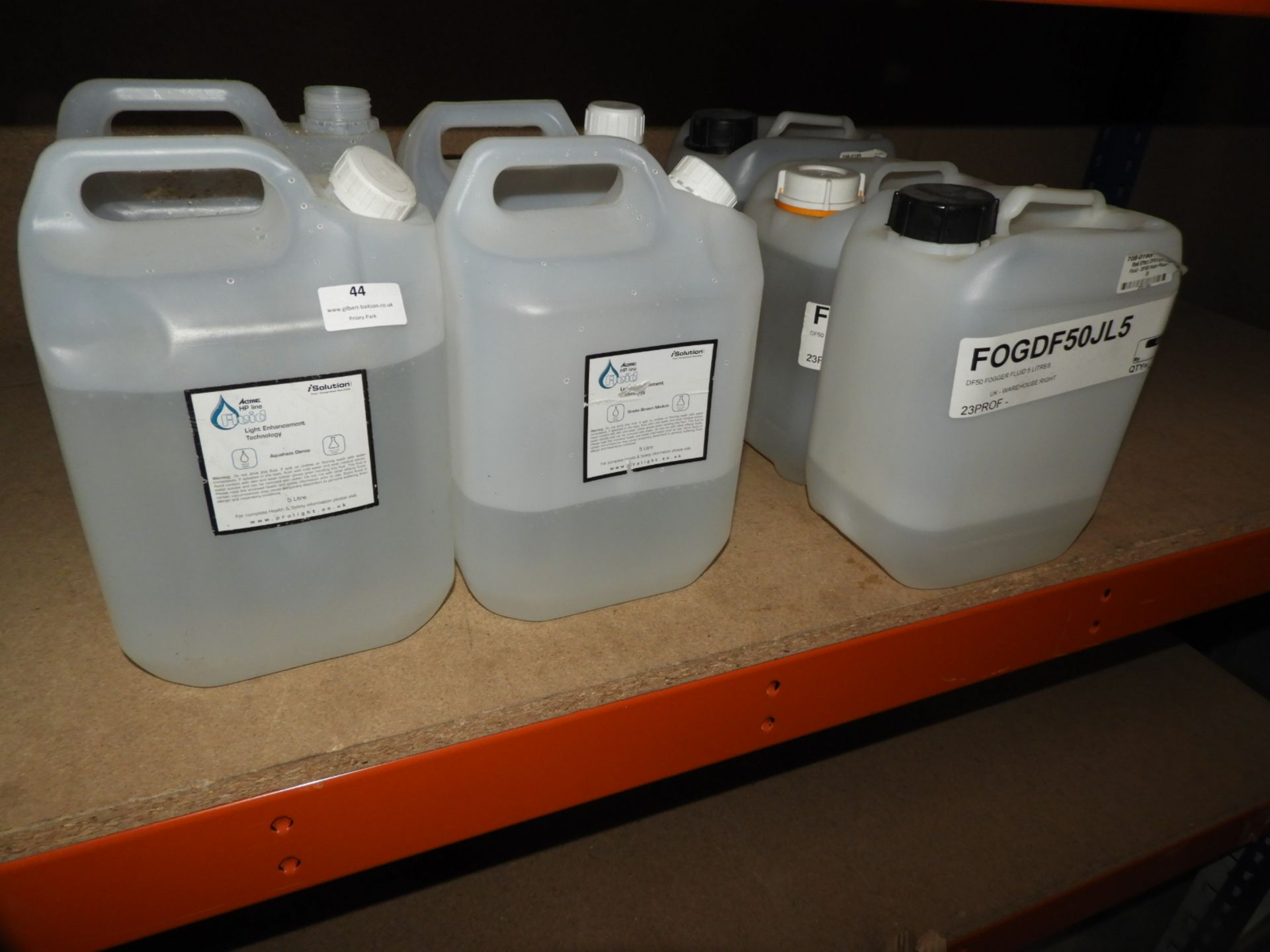 Lot 44 - *Seven Part & Full Containers of Smoke Fluid