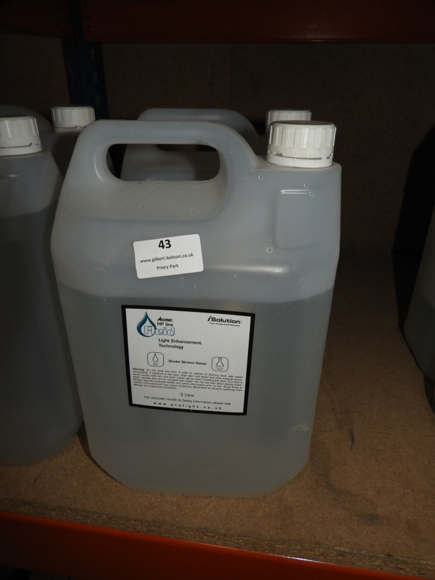 Lot 43 - *2x5L Acme HP Line Smoke Stream Dense Fluid