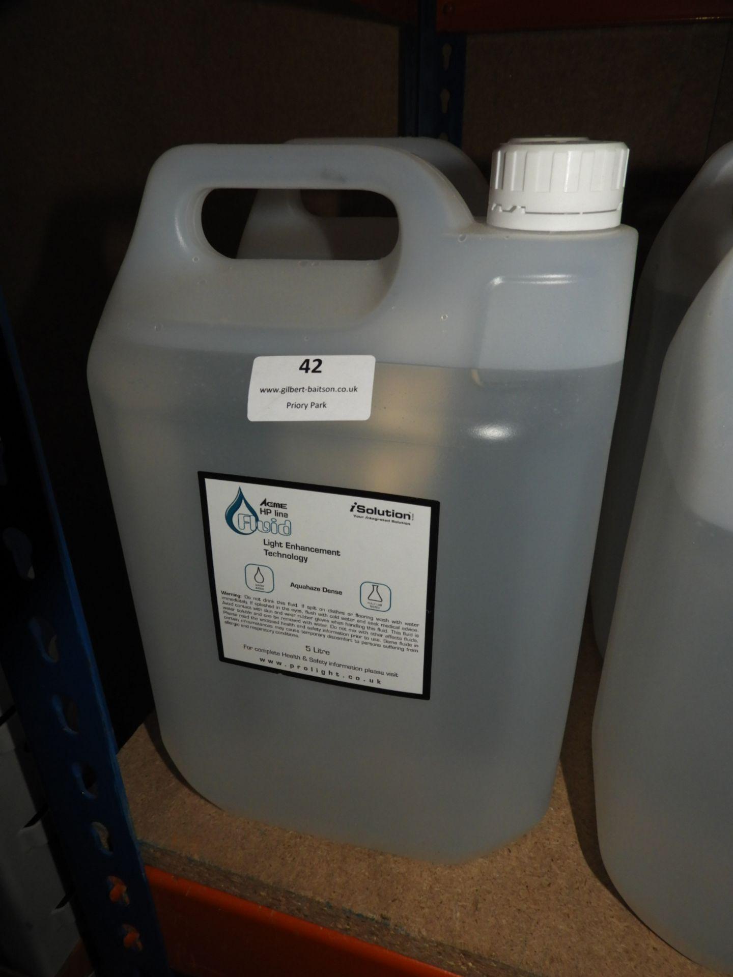 Lot 42 - *2x5L of Acme HP Line Aqua Haze Dense Fluid