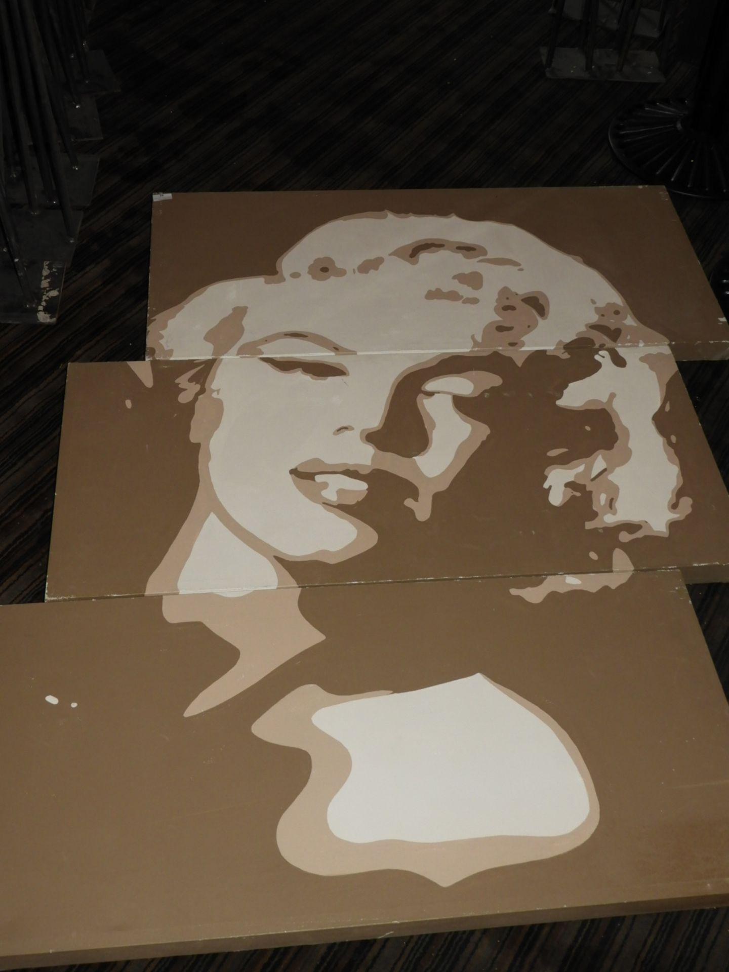 Lot 18 - *Unframed Printed Canvas - Marilyn Monroe