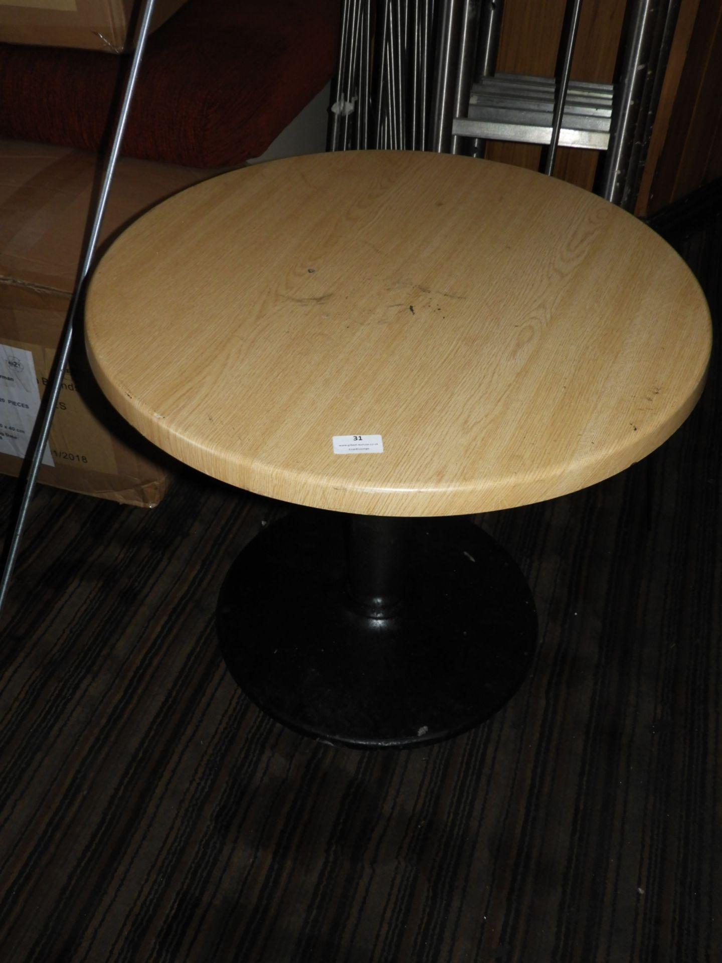 Lot 31 - *Circular Pub Table with Light Oak Top