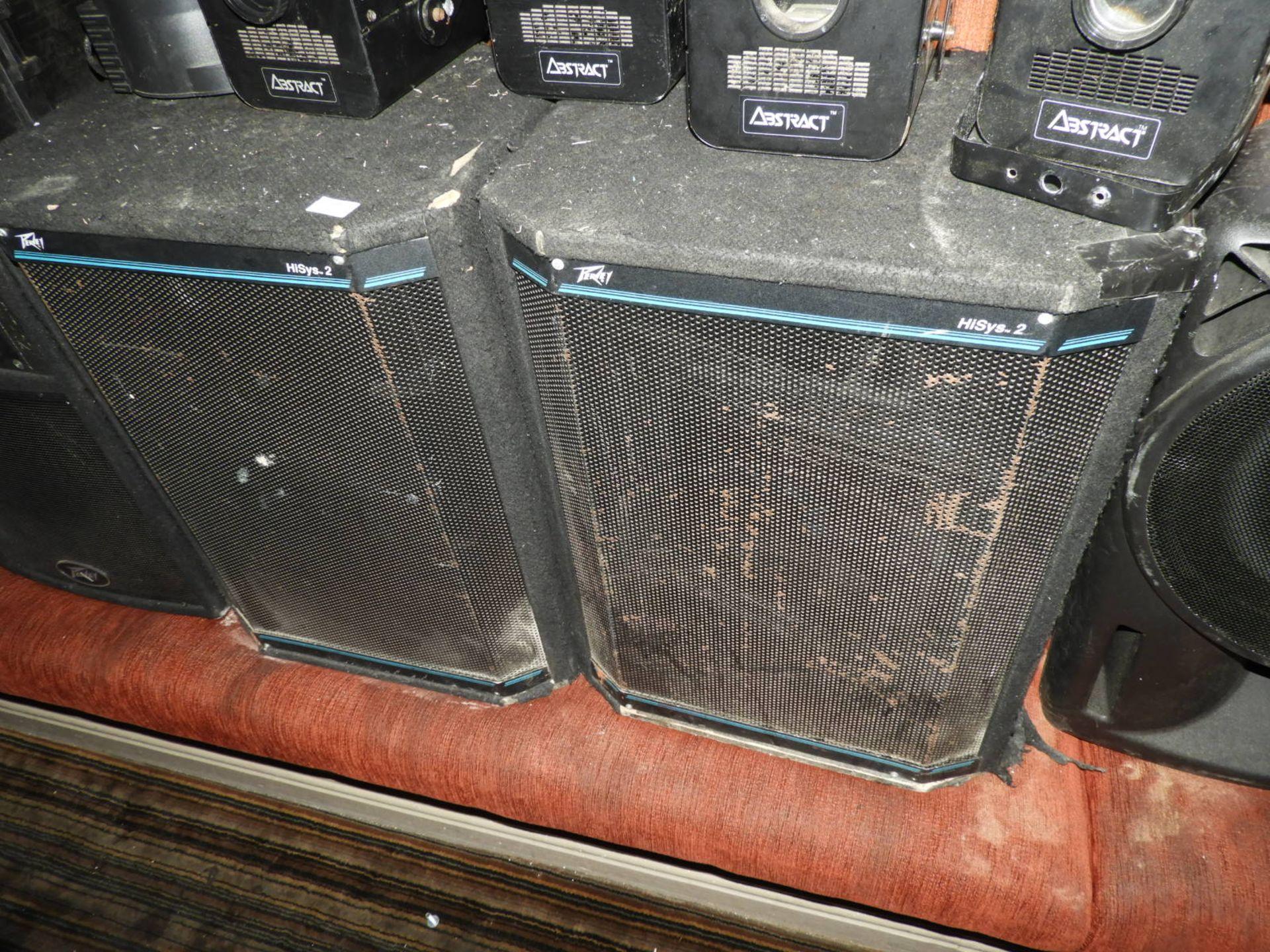 Lot 66 - *Pair of Peavey Hisys 2 Speakers