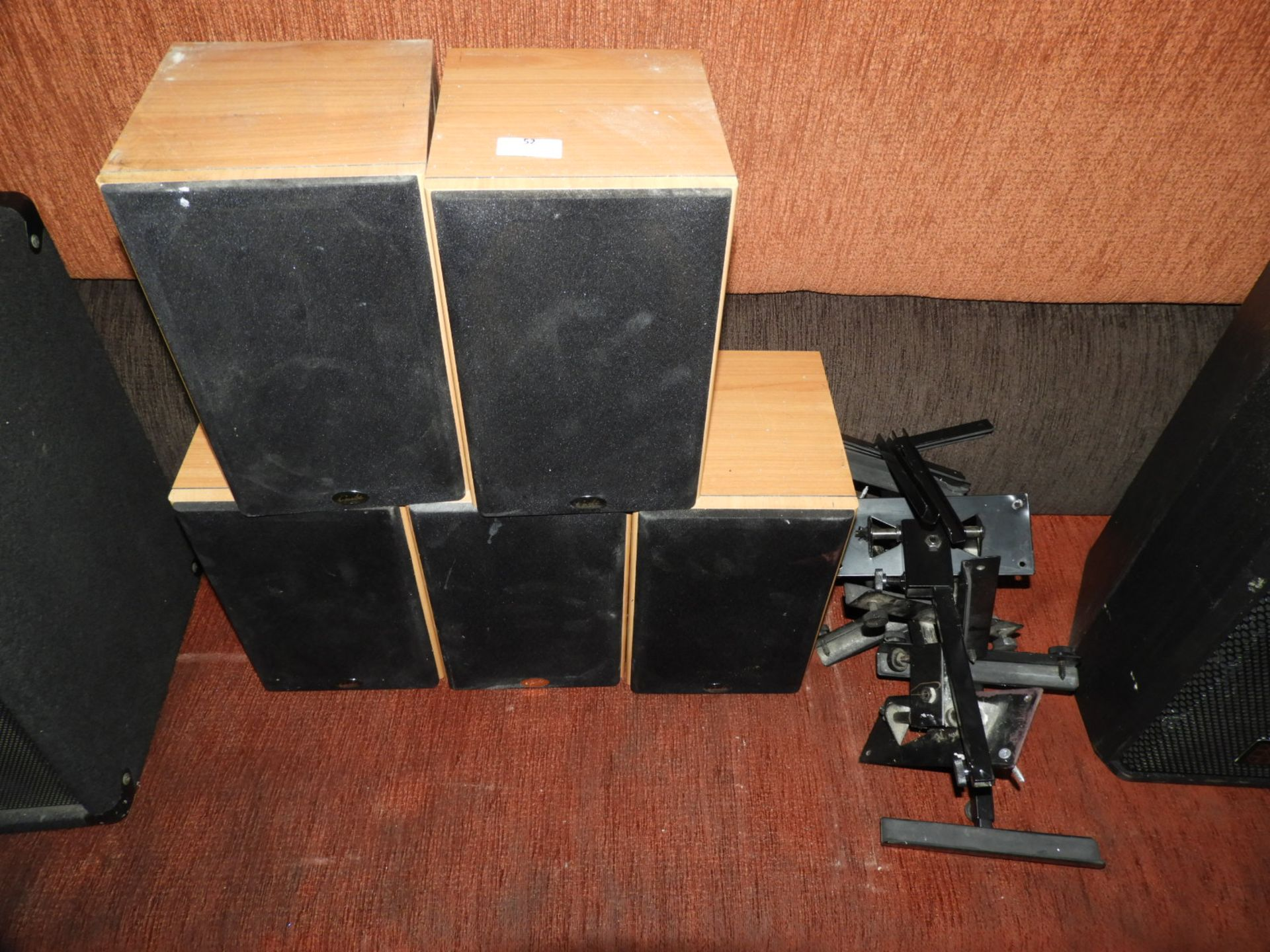Lot 52 - *Five Gale Gold Monitor Speakers with Brackets