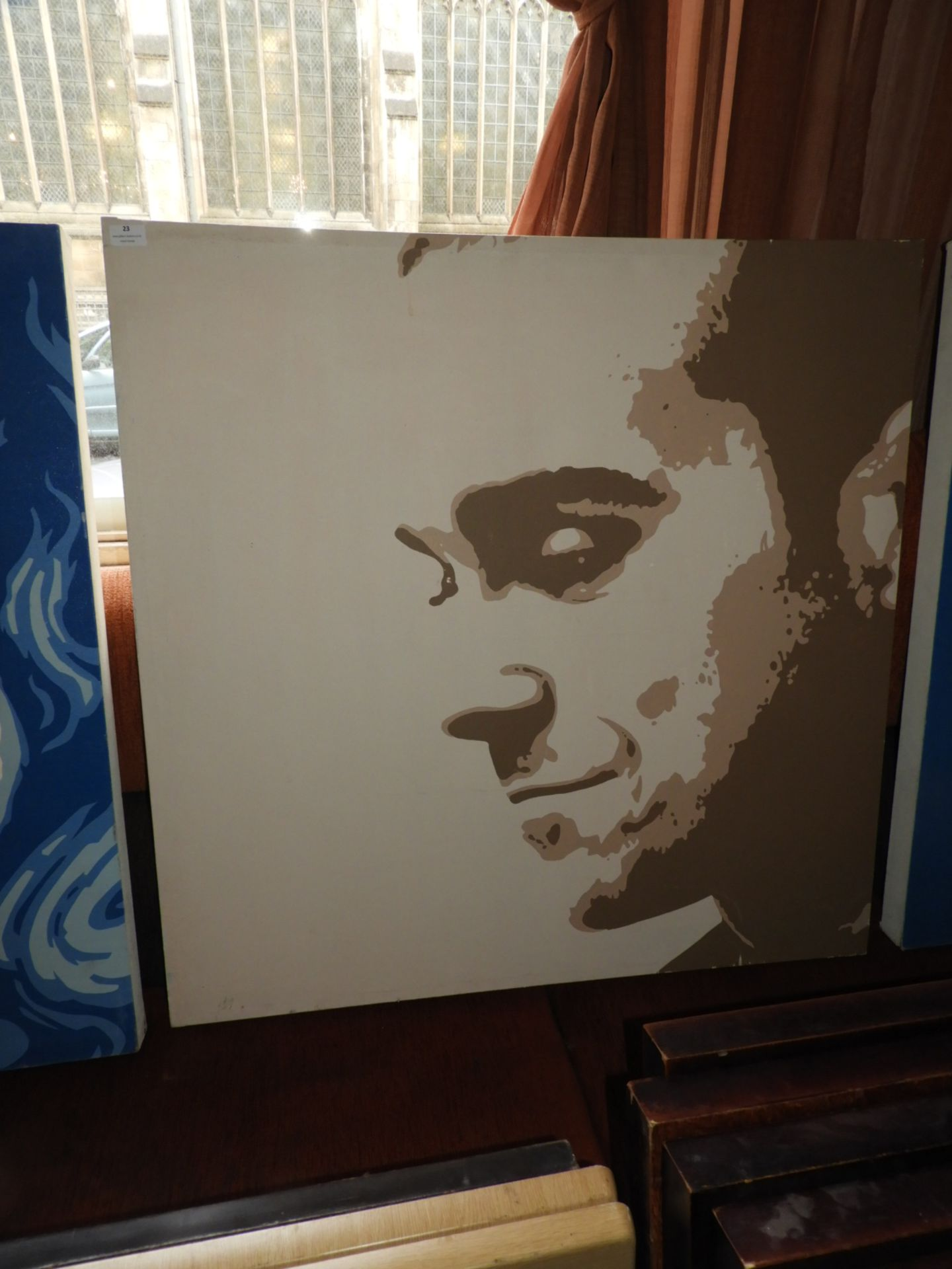 Lot 23 - *Unframed Printed Canvas - Robbie Williams