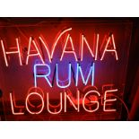 Lot 15 - *Neon Sign - Havana Rum Lounge