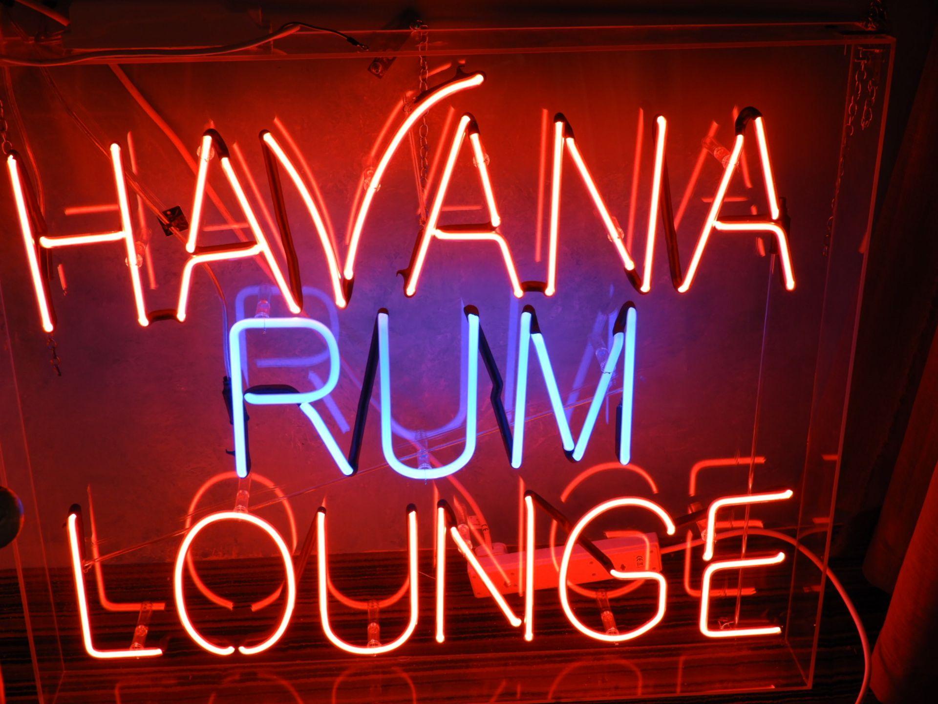 Lot 15 - *Neon Sign - Havana Rum Lounge