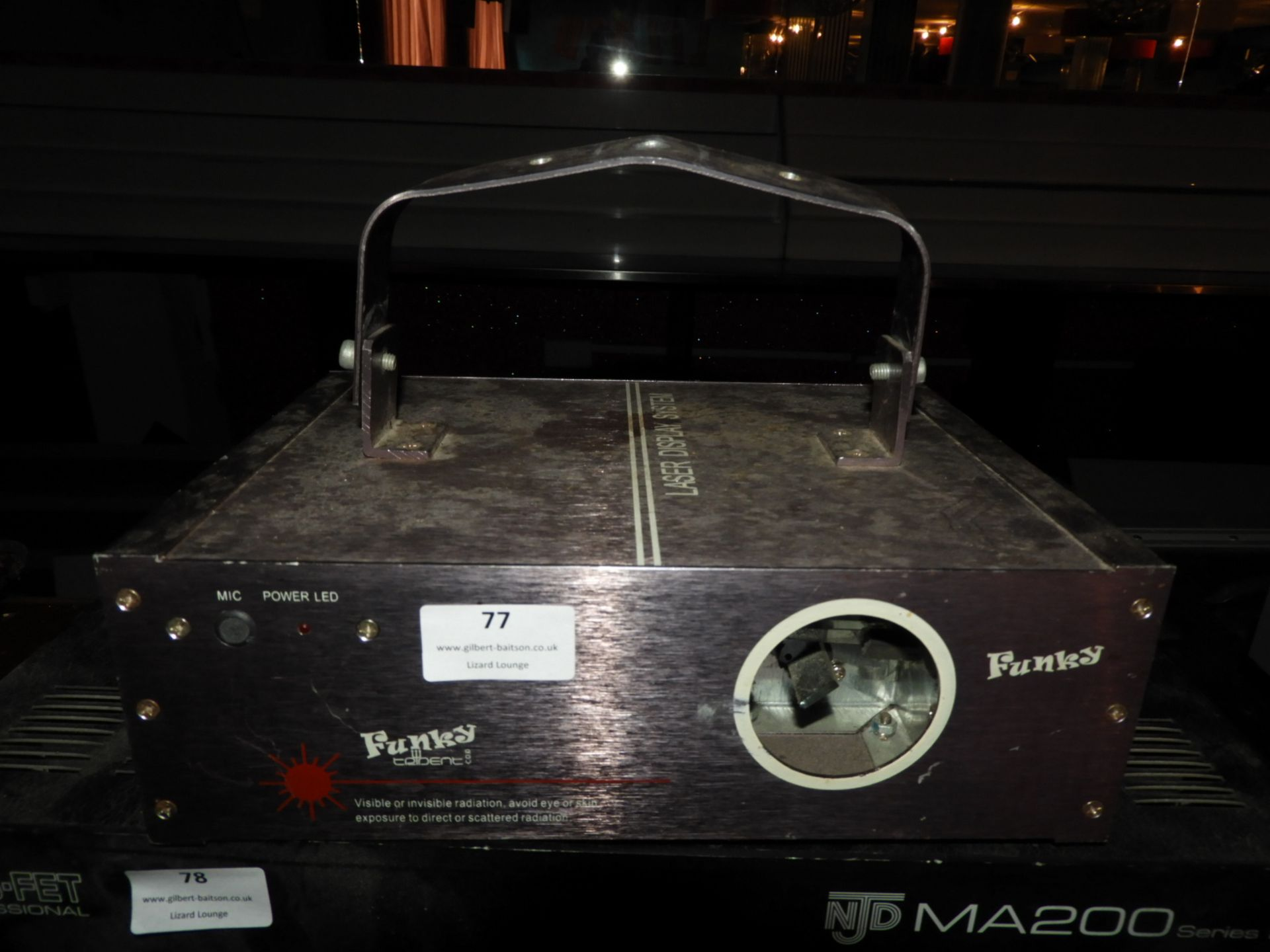 Lot 77 - *Funky Laser Light Display System