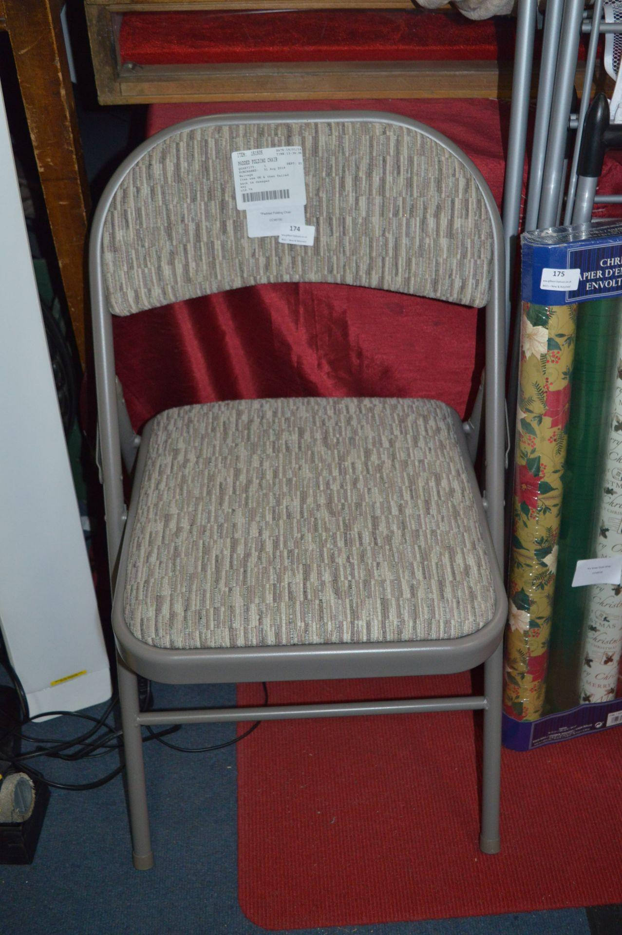 Lot 174 - *Padded Folding Chair