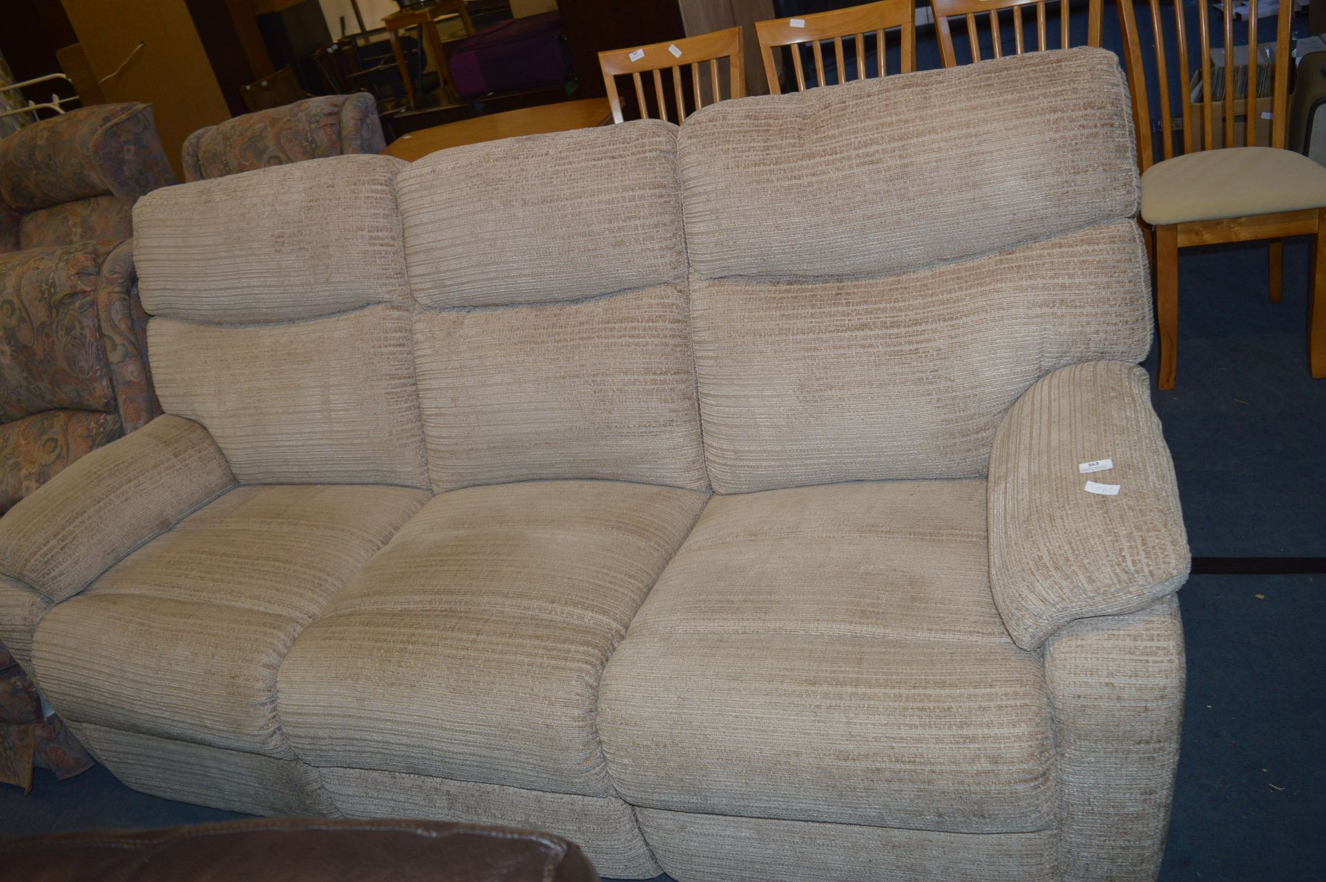 Lot 563 - Three Seat Upholstered Sofa