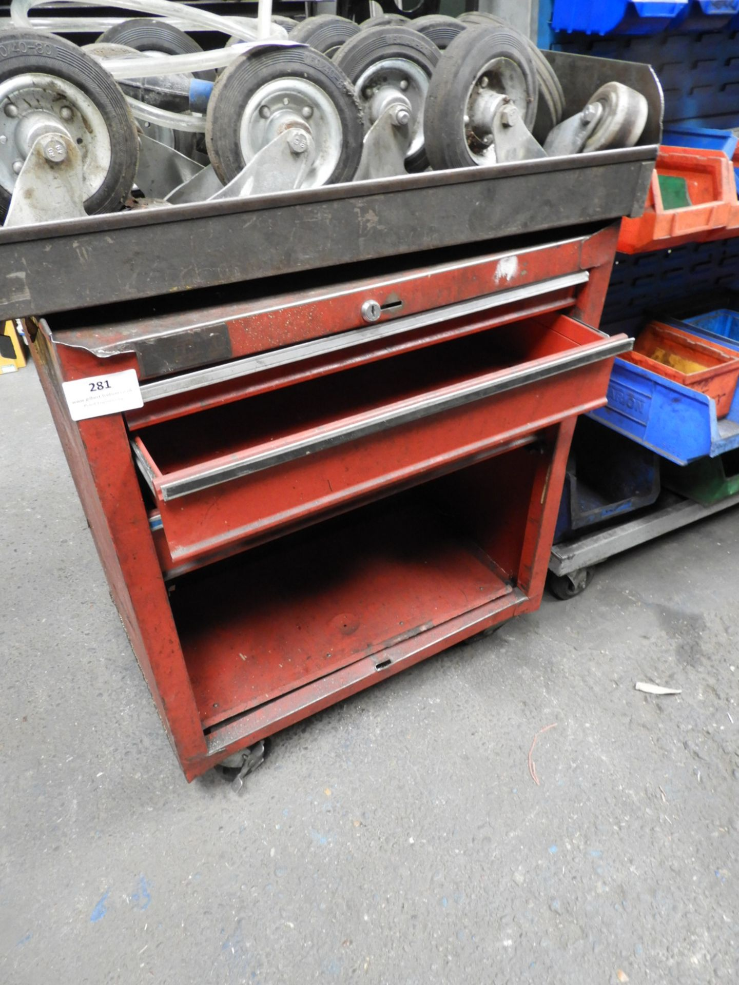 Lot 281 - *Red Toolbox Stand
