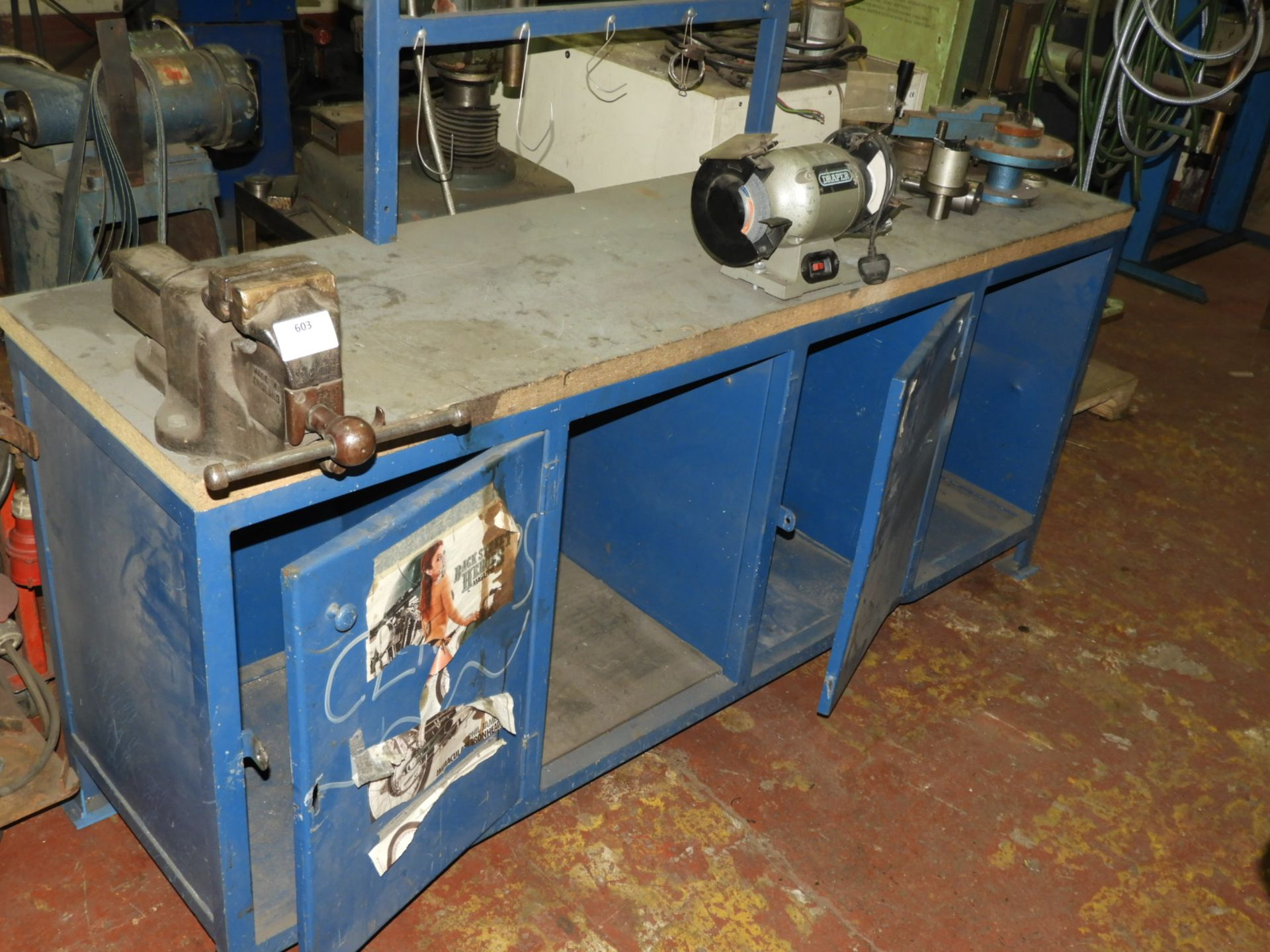 Lot 603 - *Engineers Workbench with Quick Release Vice and D